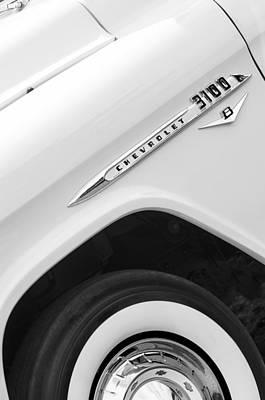 1955 Chevrolet Cameo Pickup Truck Print by Jill Reger