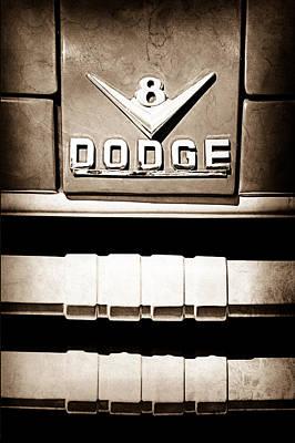 1955 Dodge C-3-b8 Pickup Truck Emblem Print by Jill Reger