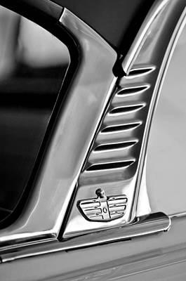 Lancer Photograph - 1955 Dodge Custom Royal Lancer 2 Door Hardtop Emblem by Jill Reger