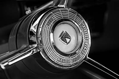 Ford Fairlane Photograph - 1957 Ford Fairlane Convertible Steering Wheel Emblem by Jill Reger