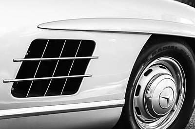 1957 Mercedes-benz 300 Sl Gullwing Wheel Emblem Print by Jill Reger