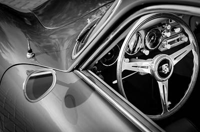 Images Of Cars Photograph - 1957 Porsche Steering Wheel by Jill Reger