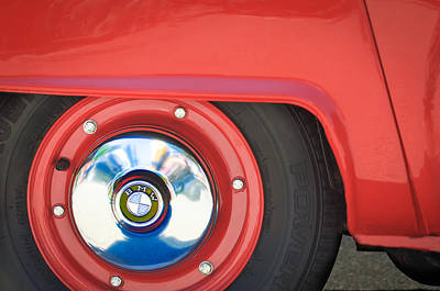 1958 Bmw Isetta 300 Wheel Emblem Print by Jill Reger