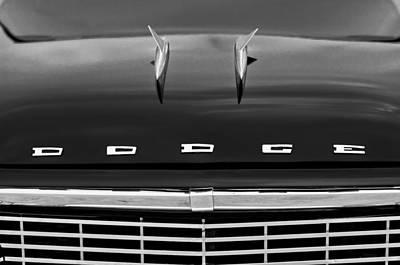 1958 Dodge Coronet Super D-500 Convertible Hood Ornament Print by Jill Reger