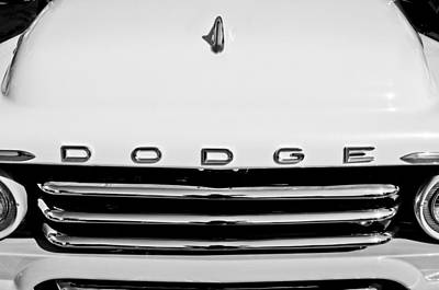 1958 Photograph - 1958 Dodge Sweptside Truck Grille by Jill Reger
