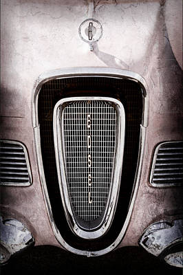 1958 Edsel Pacer Grille Emblem - Hood Ornament Print by Jill Reger