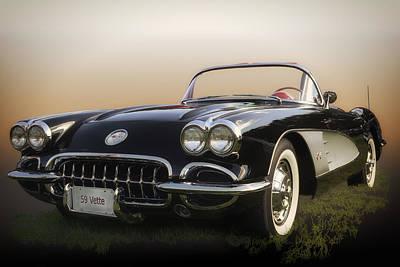 Fiber Glass Photograph - 1959 Corvette by Larry Helms