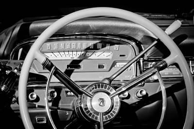 Ford Fairlane Photograph - 1959 Ford Fairlane Steering Wheel by Jill Reger