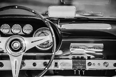 1960 Maserati 3500 Gt Spyder Steering Wheel Emblem Print by Jill Reger