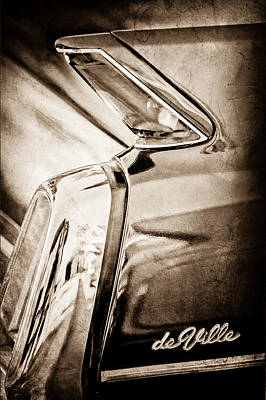 1962 Cadillac Deville Taillight Print by Jill Reger