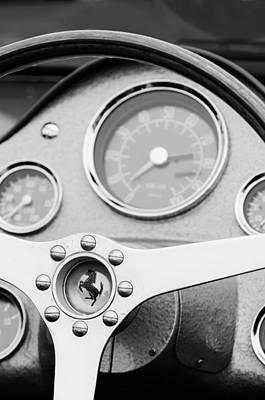 1962 Ferrari 196 Sp Dino Fantuzzi Spyder Steering Wheel Emblem Print by Jill Reger