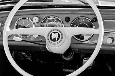 1963 Amphicar Steering Wheel Emblem Print by Jill Reger
