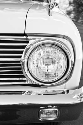 1963 Ford Falcon Futura Convertible Headlight - Hood Ornament Print by Jill Reger