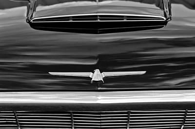 1964 Photograph - 1964 Ford Thunderbird Hood Emblem by Jill Reger