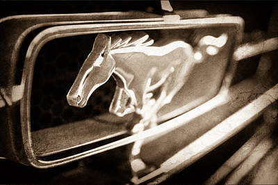 1965 Shelby Prototype Ford Mustang Grille Emblem Print by Jill Reger