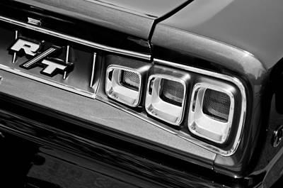 American Muscle Car Print featuring the photograph 1968 Dodge Coronet Rt Hemi Convertible Taillight Emblem by Jill Reger
