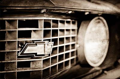 Camaro Photograph - 1969 Chevrolet Camaro Copo 9561 Grille Emblem by Jill Reger