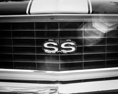 Indy Cars Photograph - 1969 Chevrolet Camaro Rs-ss Indy Pace Car Replica Grille Emblem by Jill Reger