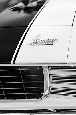 Indy Cars Photograph - 1969 Chevrolet Camaro Rs-ss Indy Pace Car Replica Hood Emblem by Jill Reger