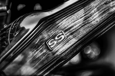 Indy Car Photograph - 1969 Chevrolet Camaro Rs-ss Indy Pace Car Replica Steering Wheel Emblem by Jill Reger