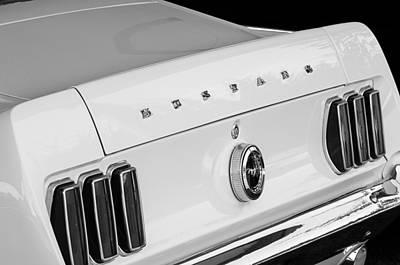 1969 Photograph - 1969 Ford Mustang Boss 429 Taillight Emblem by Jill Reger