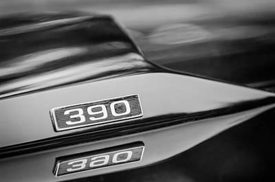 1969 Ford Mustang Mach 1 390 Hood Emblem Print by Jill Reger
