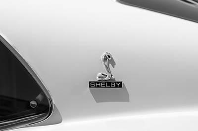 Shelby Cobra Photograph - 1970 Shelby Cobra Gt350 Fastback Emblem by Jill Reger