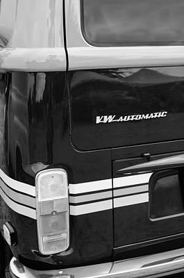 Bus Photograph - 1978 Volkswagen Vw Champagne Edition Bus Taillight Emblem by Jill Reger