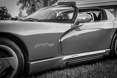 Viper Photograph - 1994 Dodge Chrysler Viper Rt10 Painted Bw   by Rich Franco