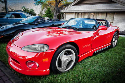 Viper Photograph - 1994 Dodge Chrysler Viper Rt10 Painted  by Rich Franco