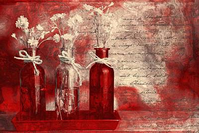 1-2-3 Bottles - Rd2vt2b Print by Variance Collections