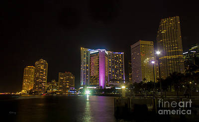 American Airlines Arena Photograph - Intercontinental Hotel Miami Bayside  by Rene Triay Photography