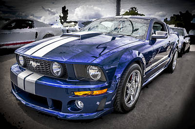 2008 Ford Shelby Mustang With The Roush Stage 2 Package Print by Rich Franco