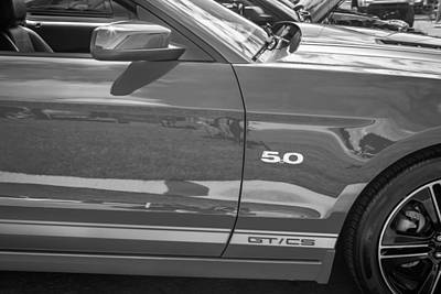 Special Edition Photograph - 2013 Ford Mustang Gt Cs Painted Bw by Rich Franco