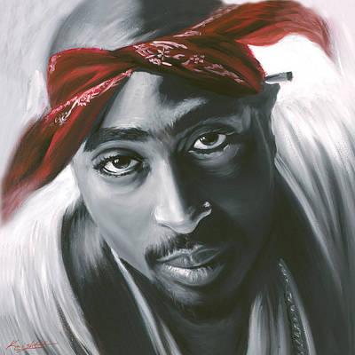Tupac Painting - 2pac Tupac Shakur by Travis Knight