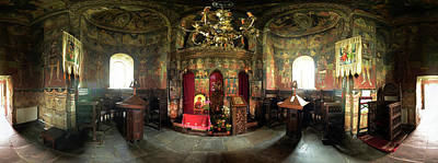 Romania Photograph - 360 Degree Interior View Of The Sambata by Panoramic Images
