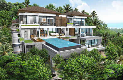 3d Rendering Of Tropical House Exterior Original by Thanes