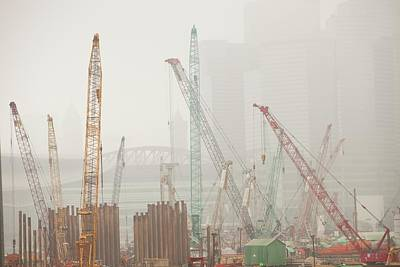 Hong Kong Photograph - A Construction Site In Hong Kong by Ashley Cooper
