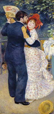 Pierre August Renoir Painting - A Dance In The Country by Celestial Images