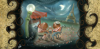 Dunk Painting - A Date In Paris by Luis  Navarro