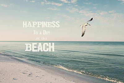 A Day At The Beach Print by Kim Hojnacki