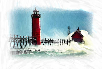 A Day At The Coast Print by Steve K