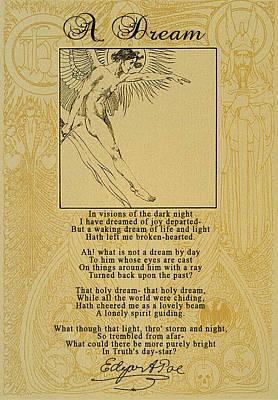 A Dream By Edgar Allan Poe Print by Scarebaby Design