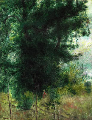 Pierre August Renoir Painting - A Fence In The Forest by Celestial Images