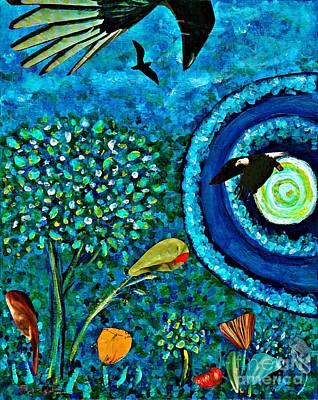 Children Decor Mixed Media - A Little Garden At The Edge Of The World by Sarah Loft