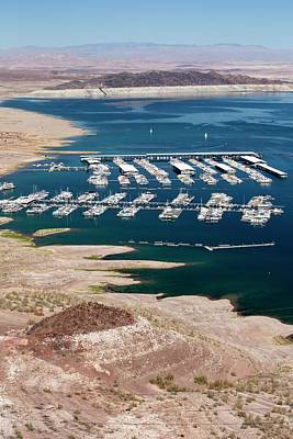Mead Photograph - A Marina On Lake Mead by Ashley Cooper