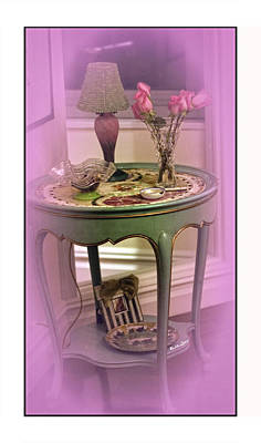 Table Lamp Photograph - A Memory  by Madeline Ellis