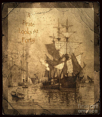 Ripped Photograph - A Pirate Looks At Forty by John Stephens
