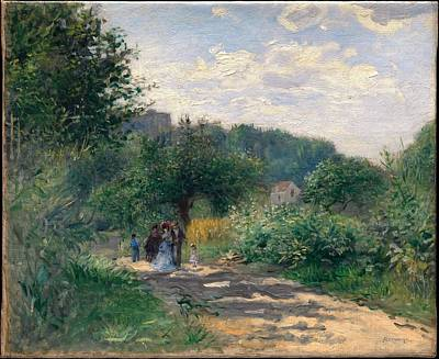 Pierre August Renoir Painting - A Road In Louveciennes by Celestial Images