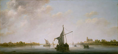 J Boat Painting - A View Of The Maas At Dordrecht by Celestial Images
